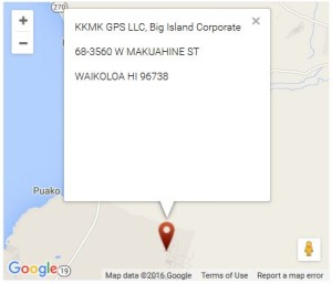 kkmk gps llc Big Island - google maps -